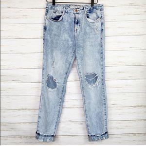 Zara | Distressed Boyfriend Skinny Jeans